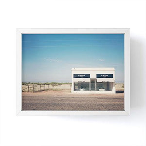 Prada Marfa Mini Framed Print