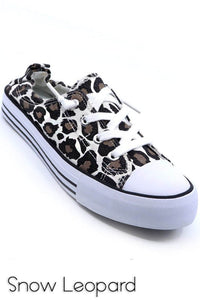 Leopard Stretchy Back Shoes