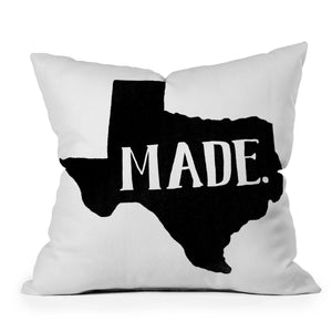 Texas Made Throw Pillow