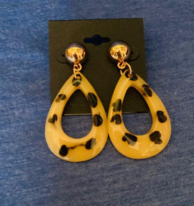 Light Leopard Teardrop Earrings