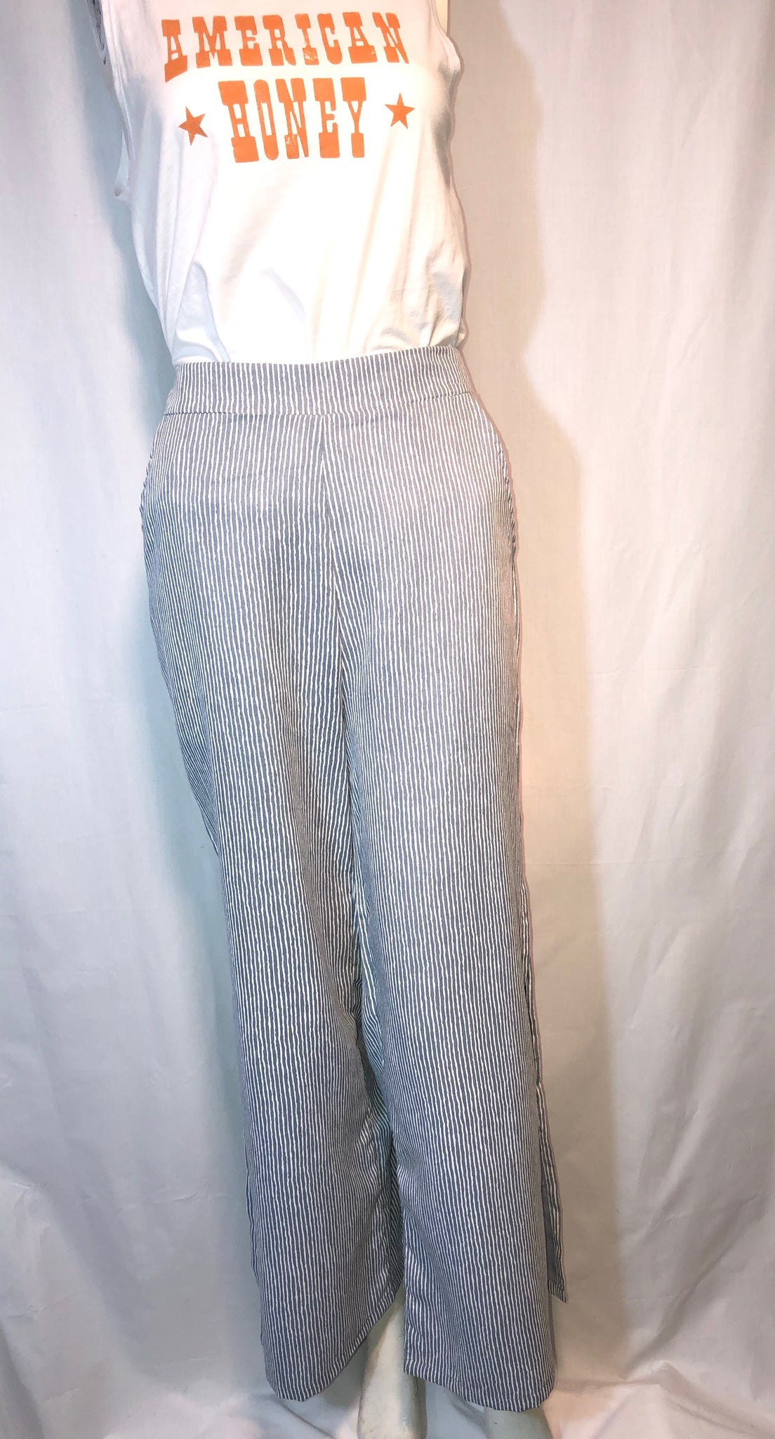 Umgee Striped Wide Leg Pants