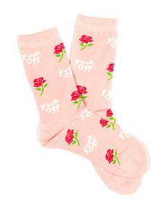 Women's Socks - Fuck Off Rose