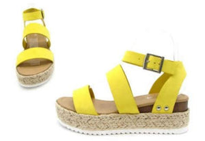 Bryce Strappy Sandal - Lemon