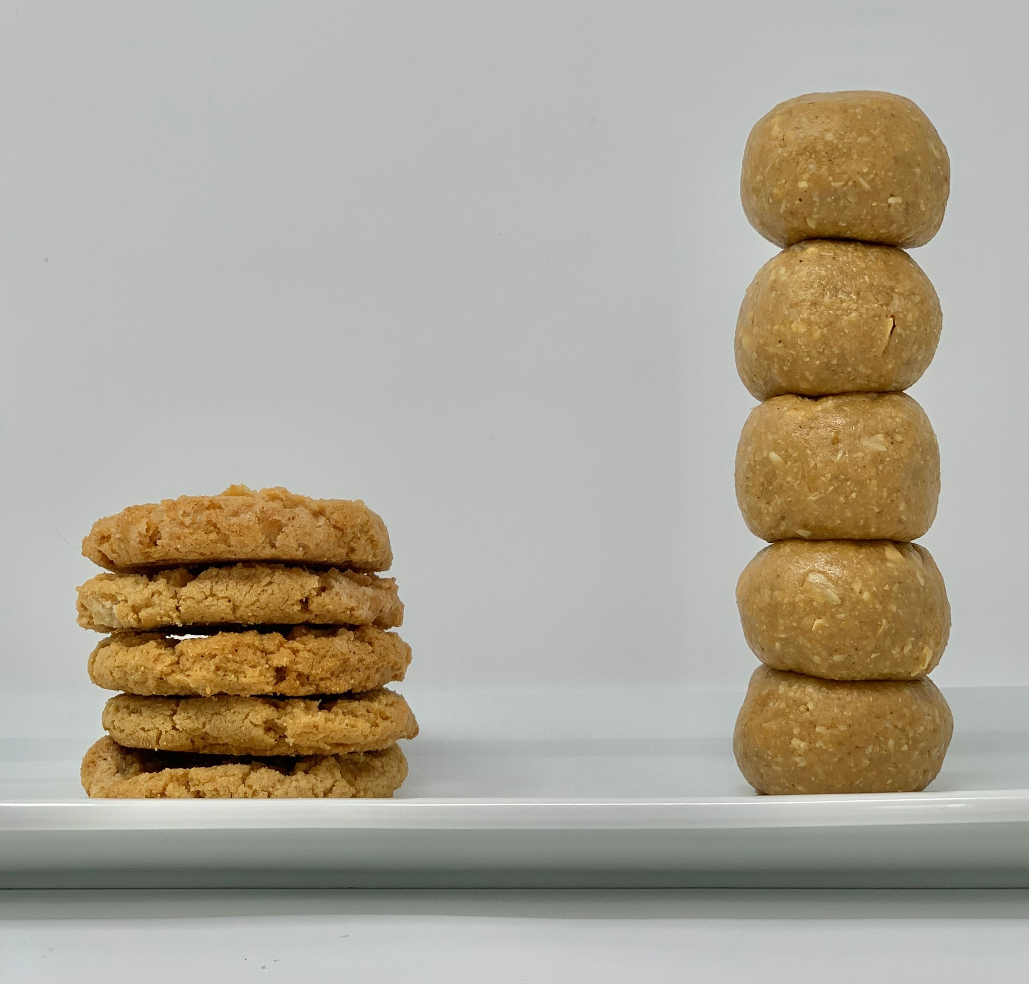 Peanut Butter Cookie Oatball vs. Classic Peanut Butter Cookie
