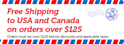 Free Canada shipping on orders over $125