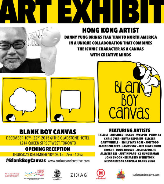 Blank Boy Canvas Art Exhibit