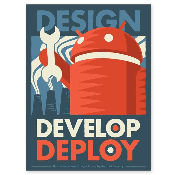 "Design Develop Deploy 18"" x 24"" Print - Mindzai  - 1"