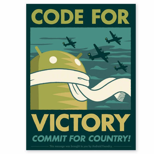"Code for Victory 18""x24"" Print - Mindzai  - 1"