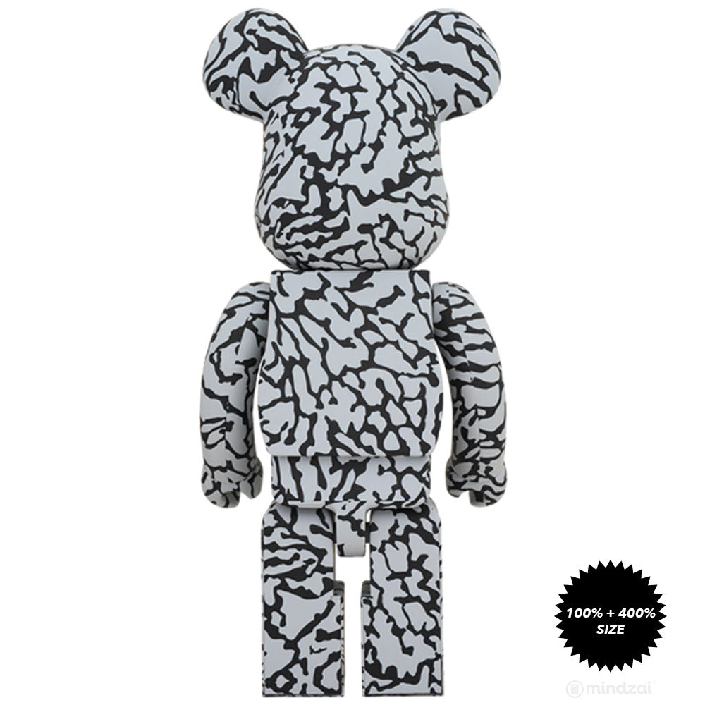 *Pre-order* Atmos × Solebox Elephant Print 1000% Bearbrick by Medicom Toy