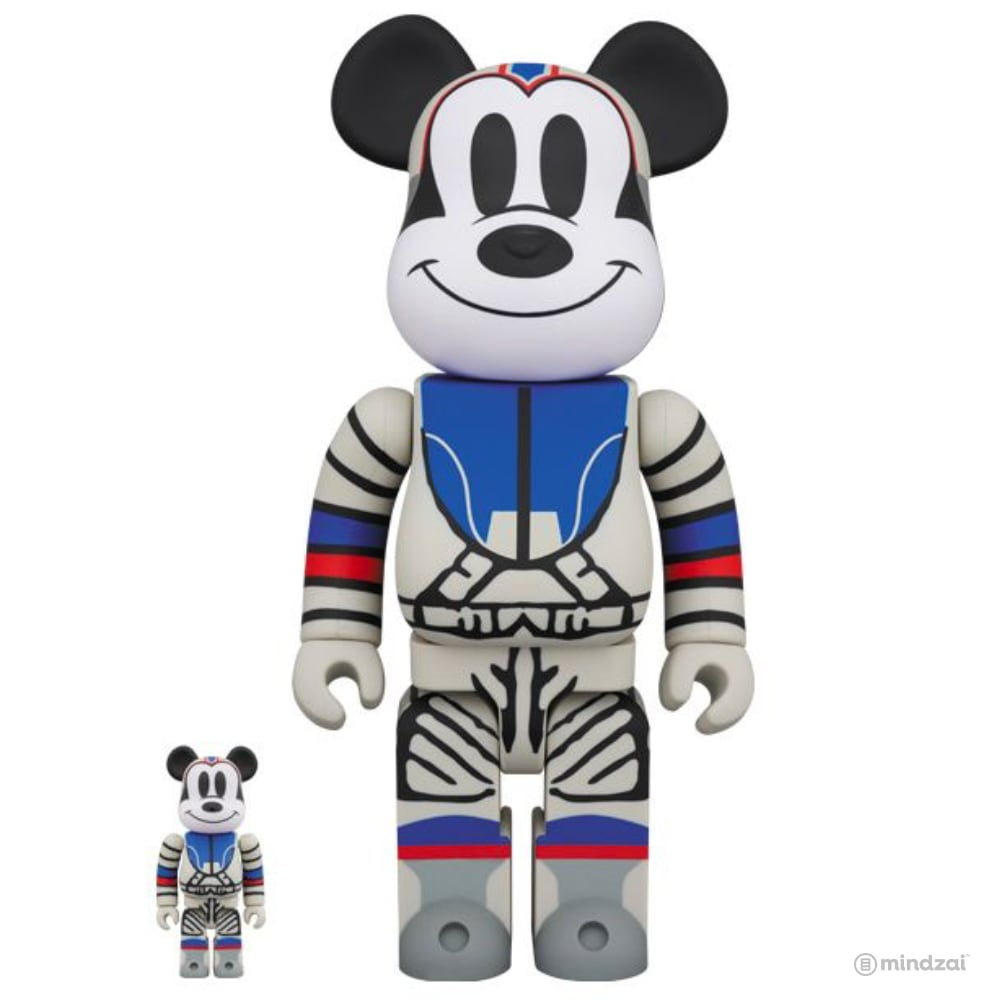 Billionaire Boys Club BBC Astronaut Mickey 100% 400% Bearbrick Set by Medicom Toy
