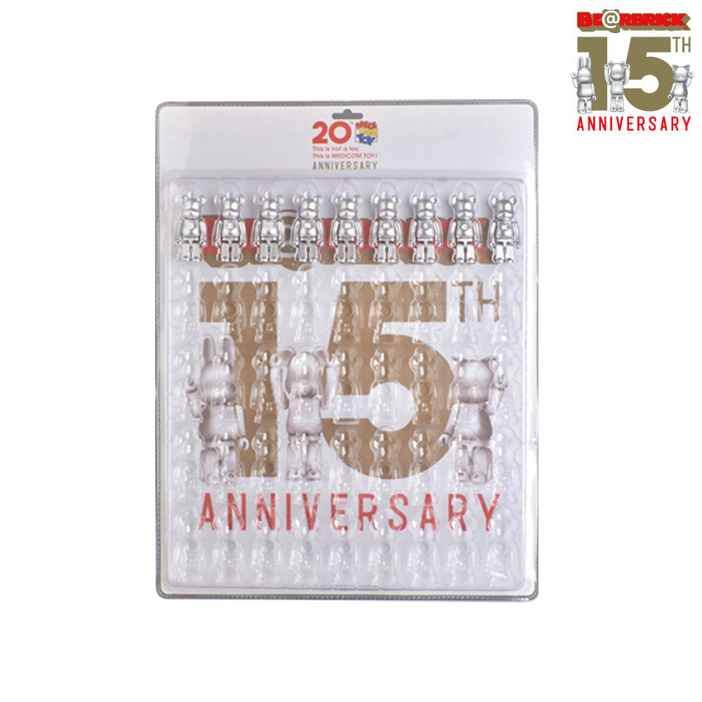 Bearbrick Display Blister Board with 9 Figure Set - 15th Anniversary - Mindzai