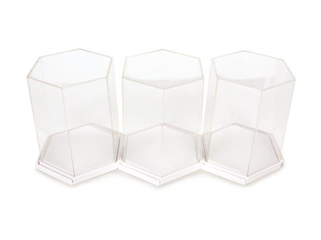 Hexagon Display Case White - Mindzai  - 1