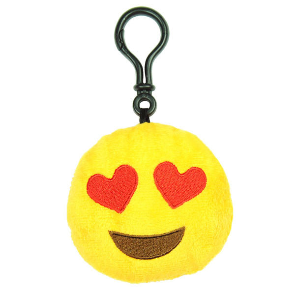 Hearts Emoji Plush Toy Clip