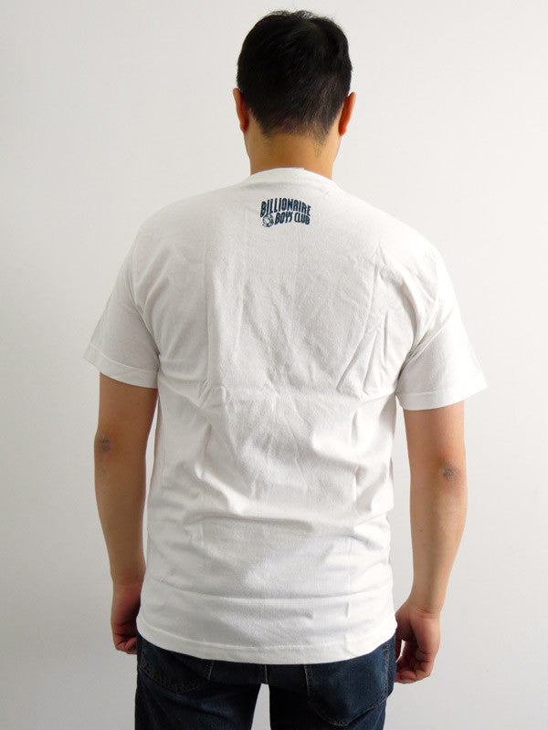 Navy Blue Helmut White T-shirt by Billionaire Boys Club - Mindzai  - 1