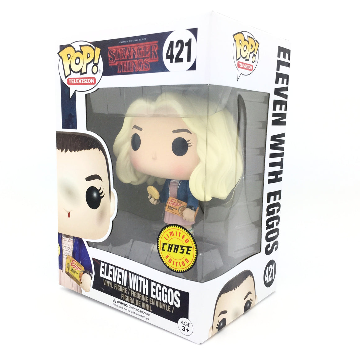 Stranger Things Eleven with Eggos Blonde Wig Limited Chase Edition POP Vinyl Figure by Funko