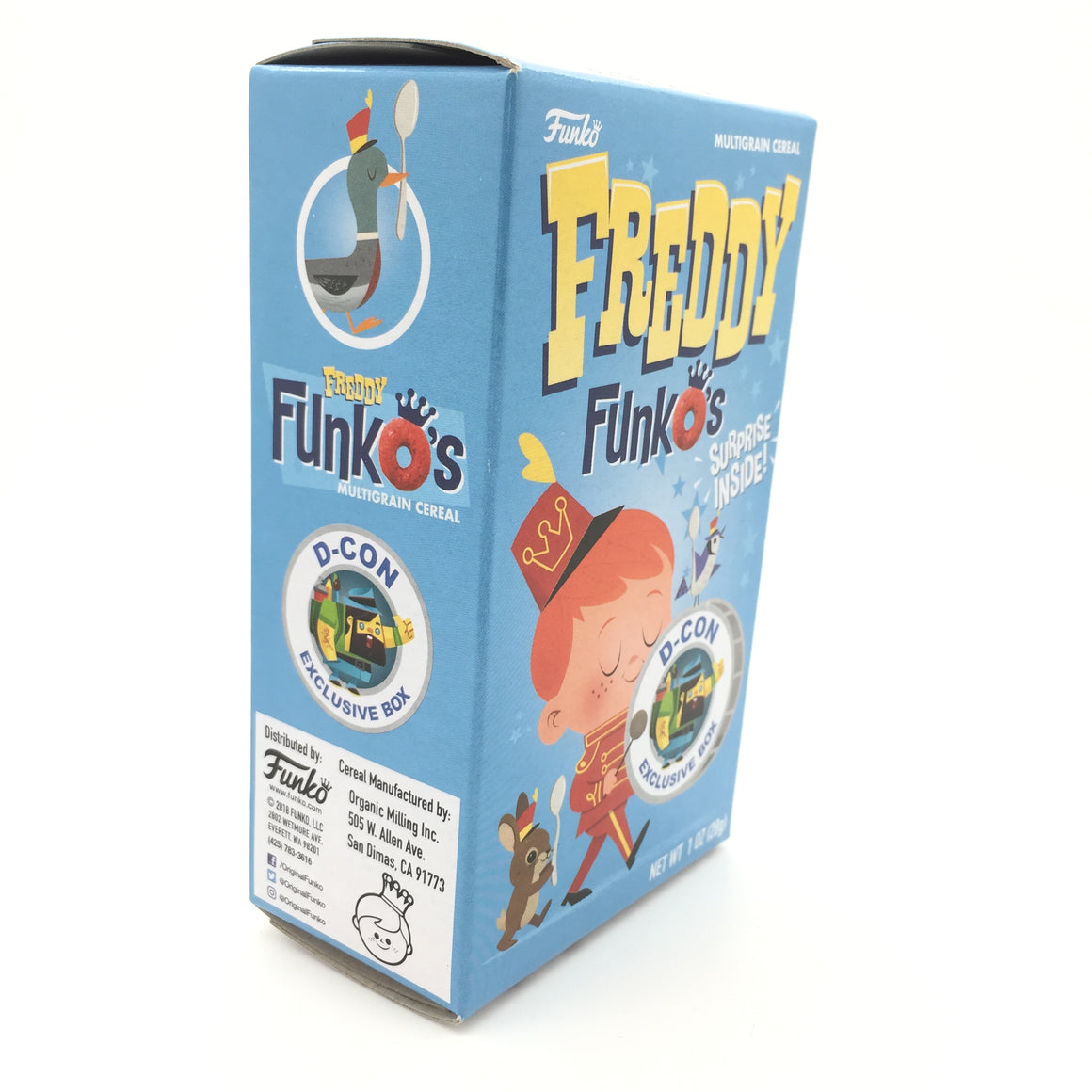 Freddy FunkO's D-CON Exclusive Small Cereal Box with Surprise Sticker