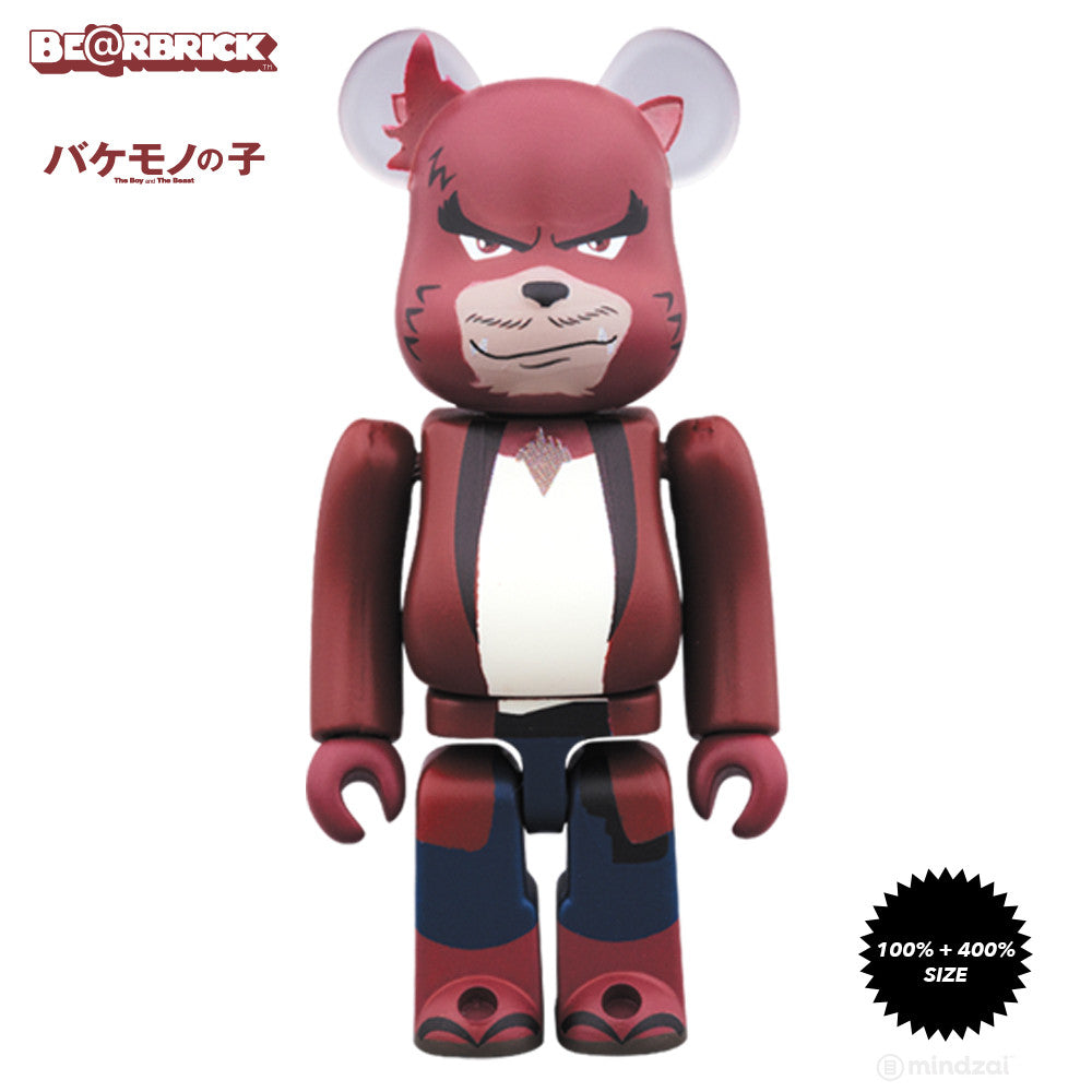 Kumatetsu The Boy and The Beast 100% and 400% Bearbrick Set - Pre-order