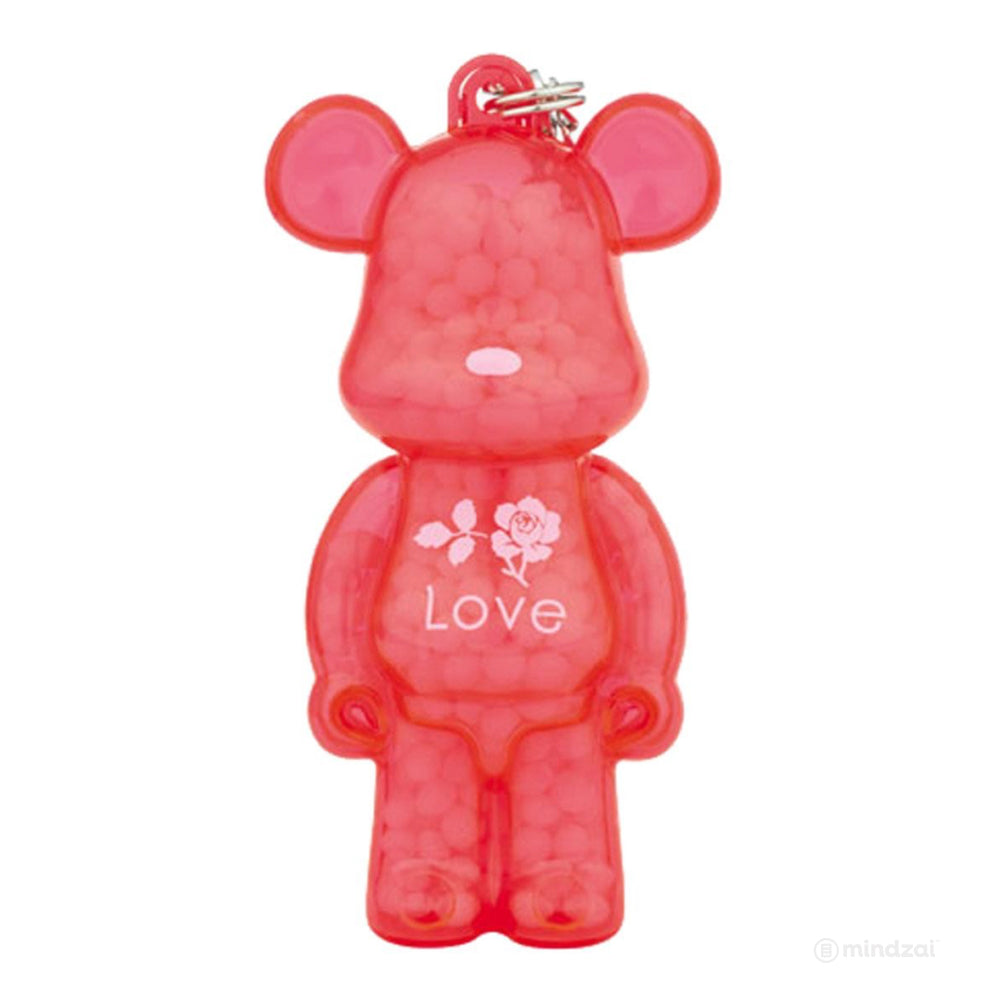 Bearbrick Kumaroma Air Freshner Keychain Figure - Love (Rose)