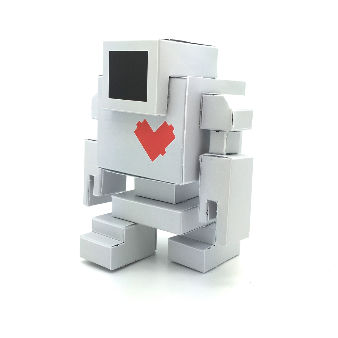 Lovebot Paper Craft Toy by Matthew Del Degan - Mindzai  - 1