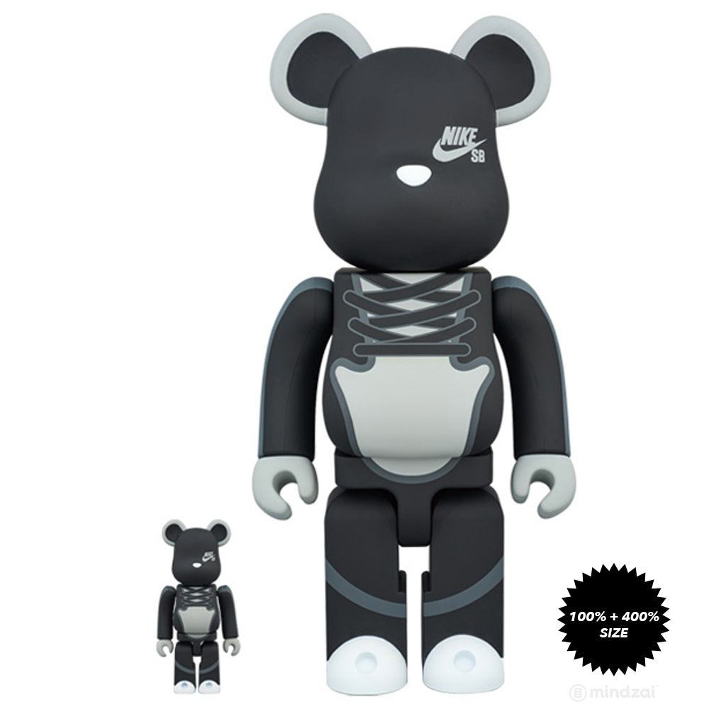 Nike SB 100% and 400% Bearbrick Set by Medicom Toy x Nike SB