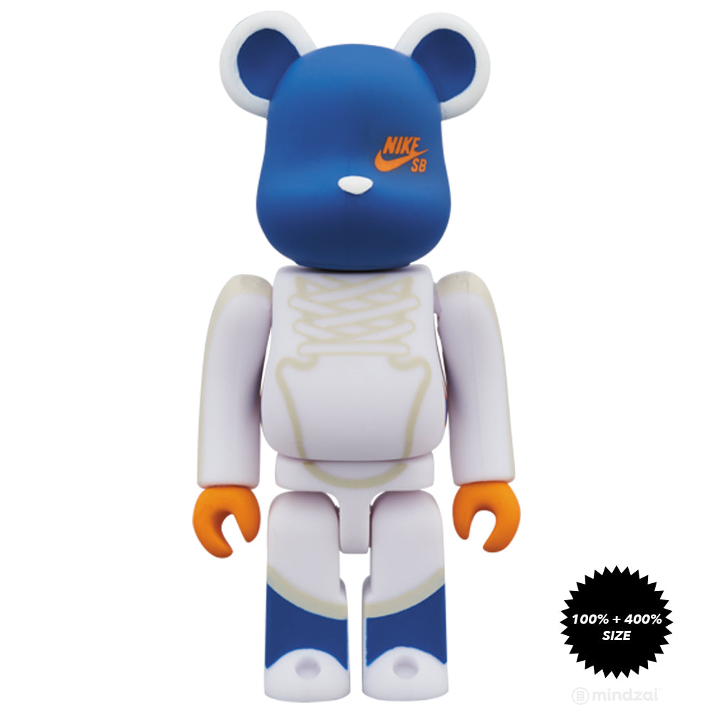 Nike SB White 100% and 400% Bearbrick Set by Medicom Toy x Nike SB