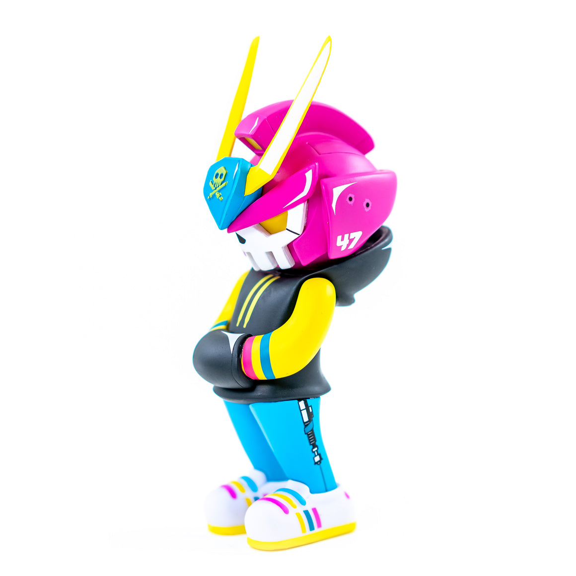 Pirateq-47 Neo-Tokyo Pink TEQ 63 Toy Figure by Quiccs x SergAndDestroy