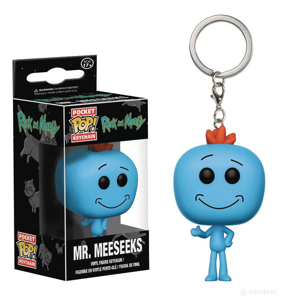 Mr. Meeseeks Rick and Morty Pocket Pop Keychain