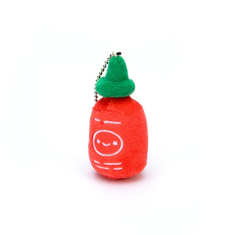 Kawaii Food Party - Sriracha Friend Plush Charm by 100% Soft