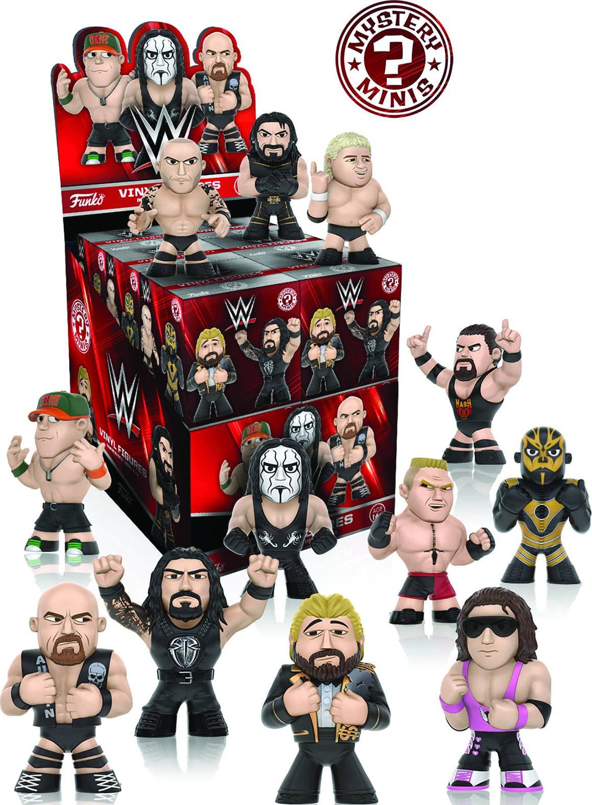 WWE Wrestling Mystery Minis Series Two Blind Box