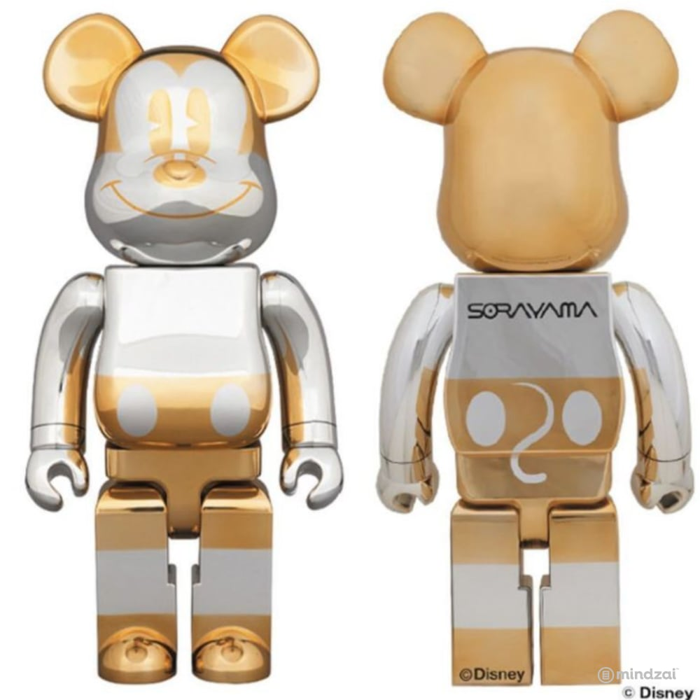 Sorayama Future Mickey Mouse 1000% Bearbrick by Medicom Toy x Disney