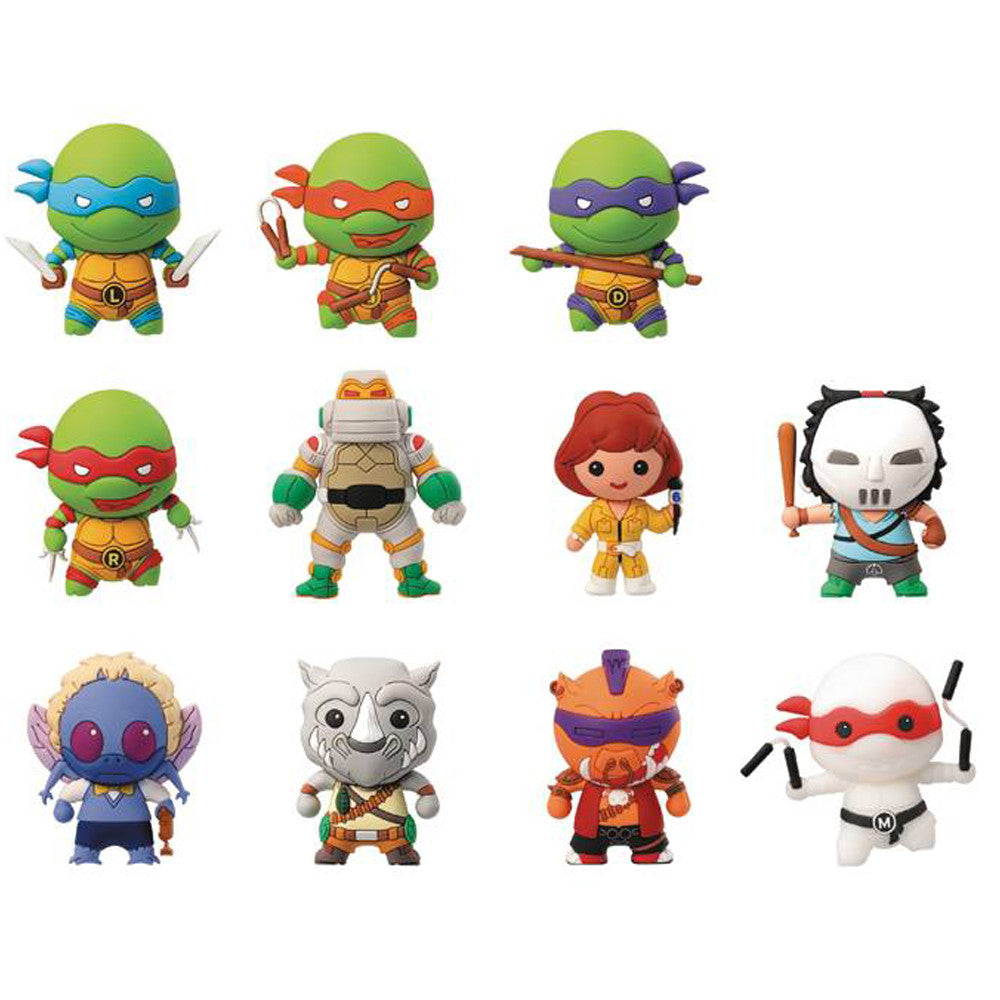 TMNT Teenage Mutant Ninja Turtles Collectors Keyring Blind Bag
