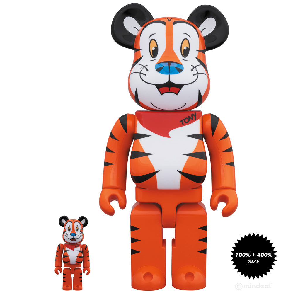 Tony The Tiger 100% and 400% Bearbrick Set by Kelloggs x Medicom Toy