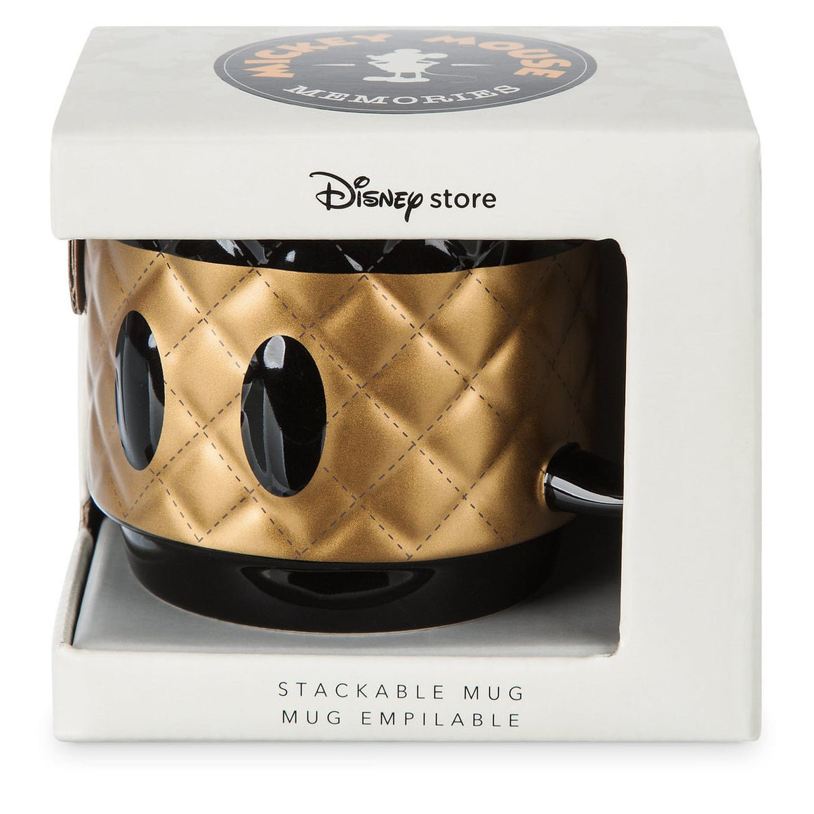 Mickey Mouse Memories Stackable Mug - August (Limited Edition) Black and Gold