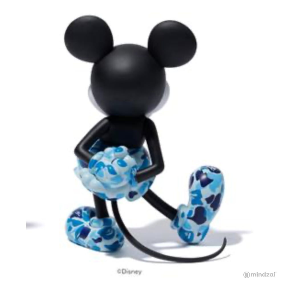 BAPE Mickey Mouse Vinyl Collectible Dolls VCD by Medicom Toy - Blue