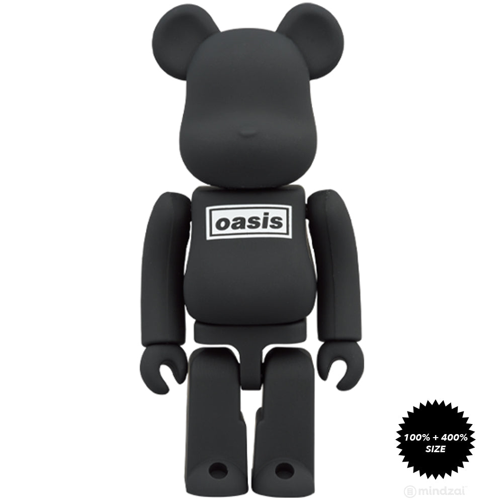 Oasis - Black Rubber Coating Ver. 100% + 400% Bearbrick by Medicom Toy