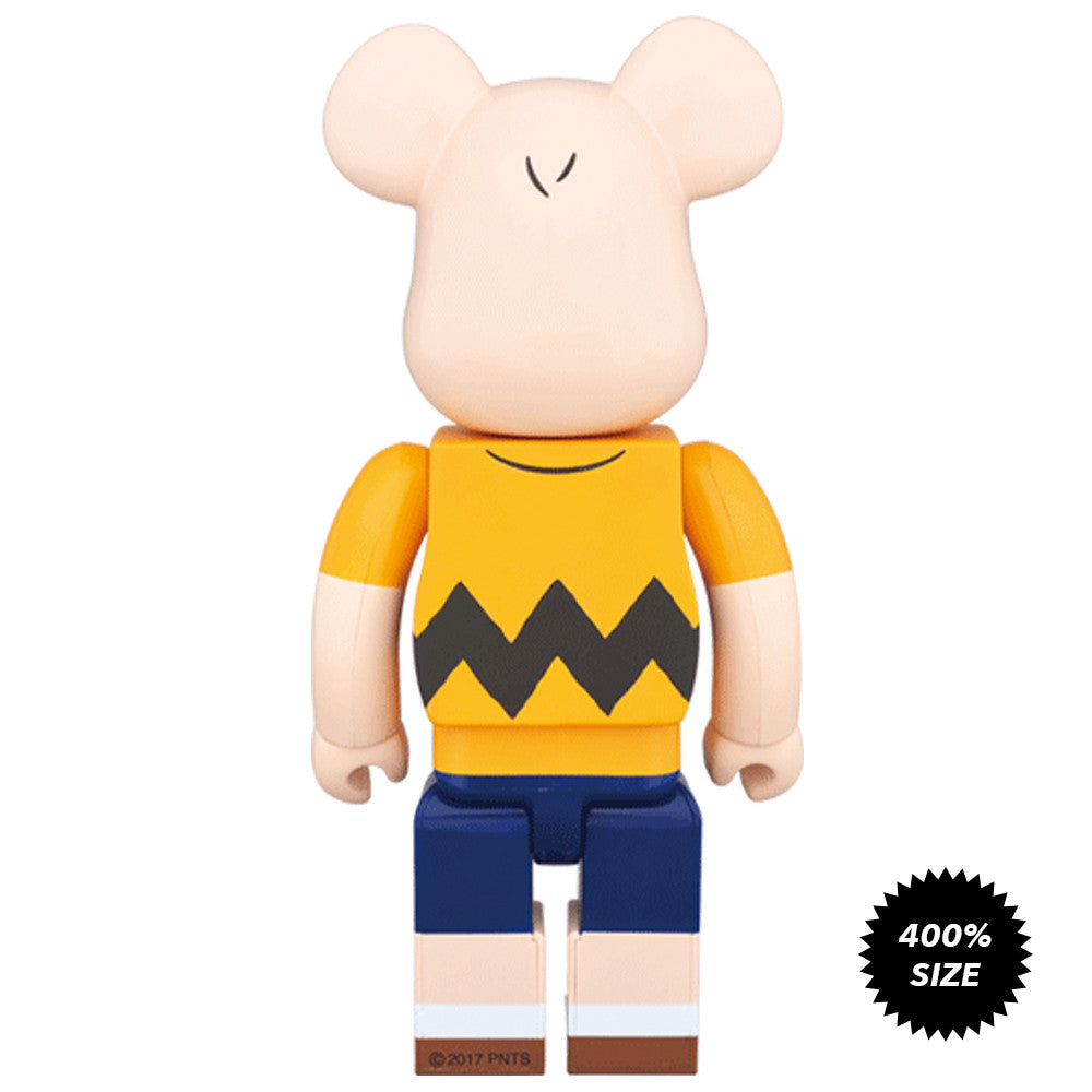 Charlie Brown Yellow Tee 400% Bearbrick - Pre-order