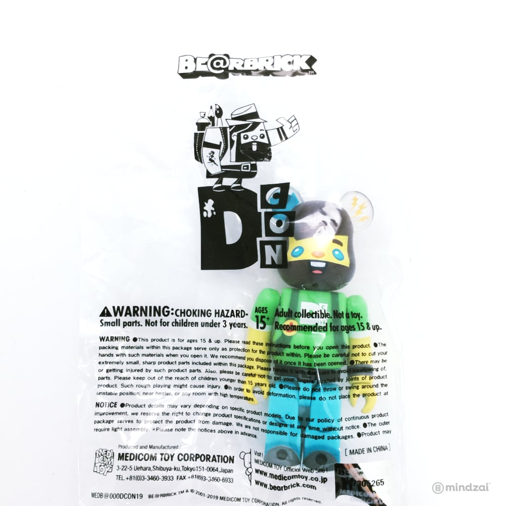 Designer Con Vincent (Scott Tolleson) 100% Bearbrick - Designer Con Exclusive