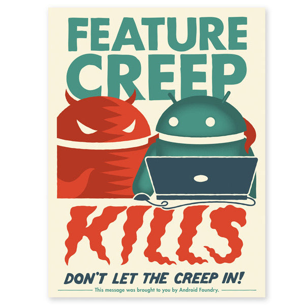 "Feature Creep Kills 18""x24"" Print - Mindzai  - 1"