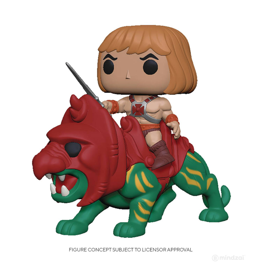 Masters of the Universe He-Man on Battle Cat POP Toy Figure by Funko