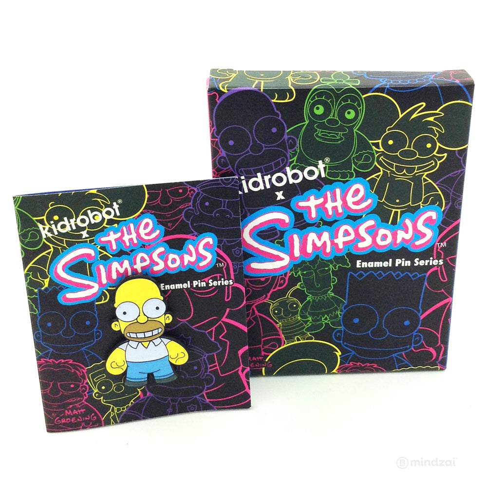 The Simpsons Enamel Blind Box Pin Series by Kidrobot - Homer Simpson