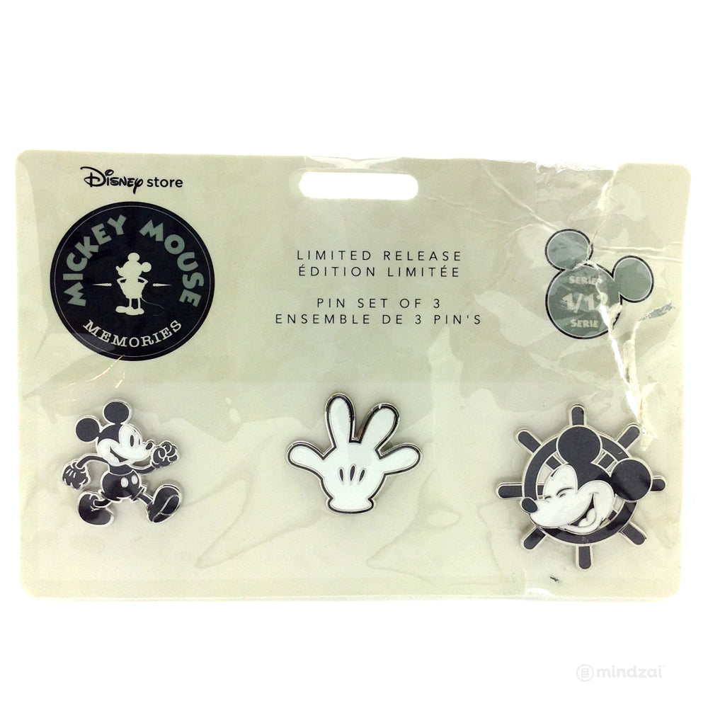 Mickey Mouse Memories Pin Set - January (Limited Edition) Steamboat Willie