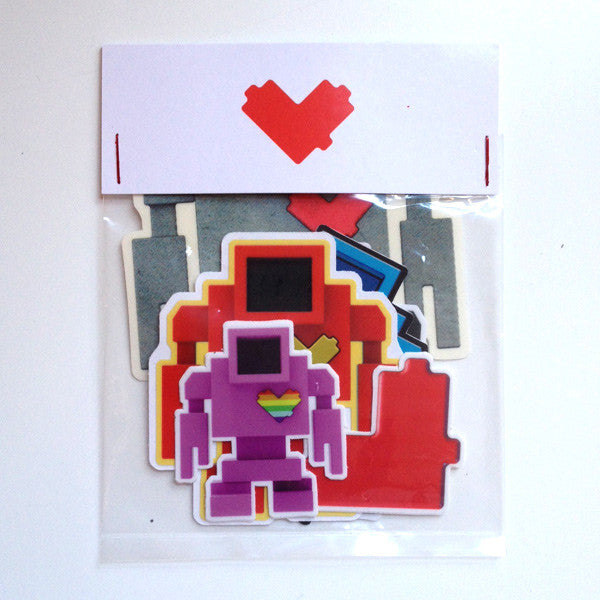 Lovebot Small Sticker MulitPack - Mindzai