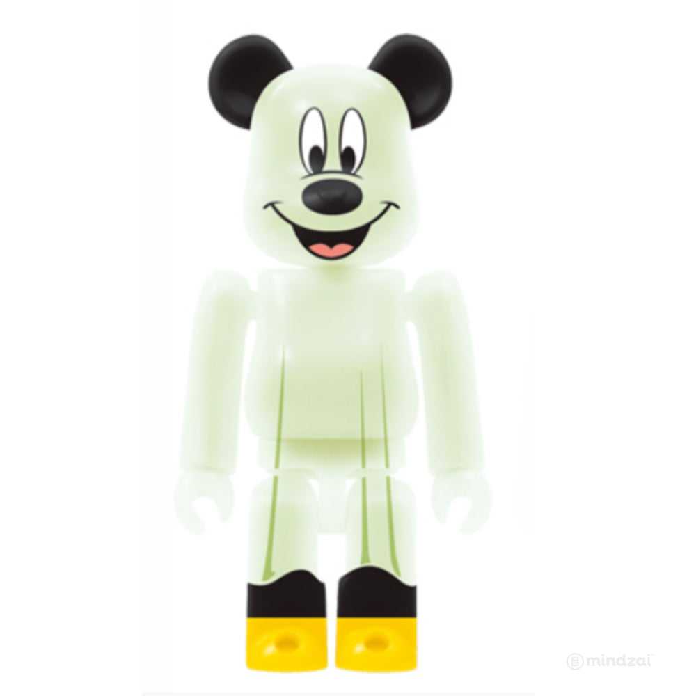 Disney WOW! x Halloween Monster Bearbrick  - Mickey Mouse (GID) Version 100% Size