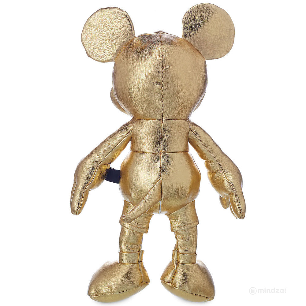 "Mickey Mouse The True Original - Small Gold Plush 11"" - 90 Years Limited Edition"