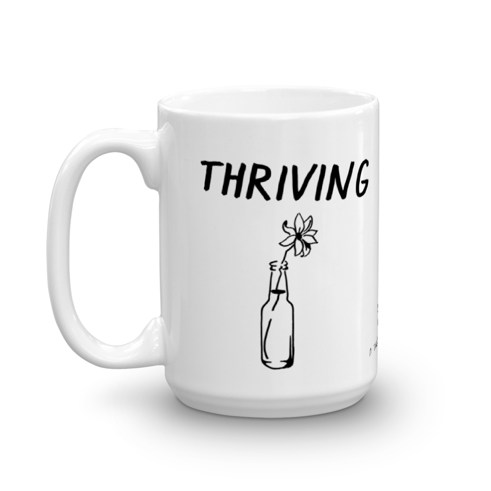 Thriving Surviving Mug by Pavel Ioudine