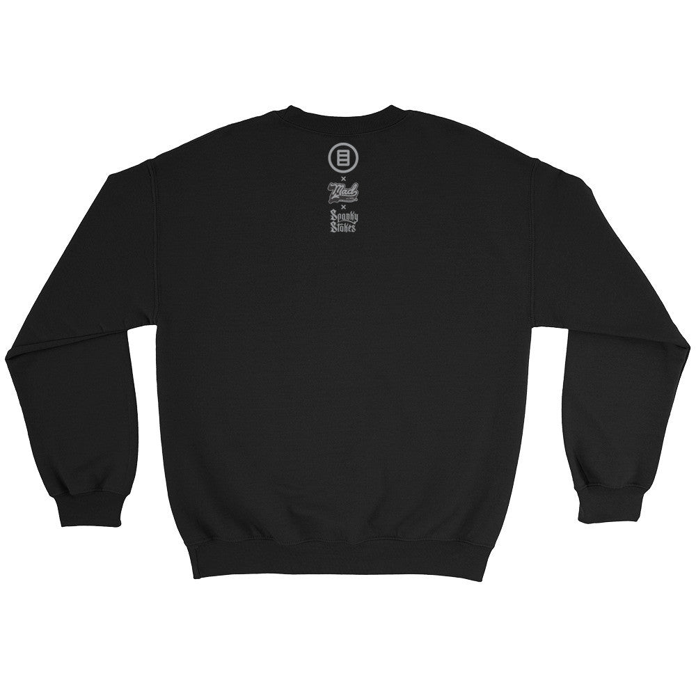 Stroll Crewneck Sweater by Mad Toy Design x Spanky Stokes x Mindzai - Black