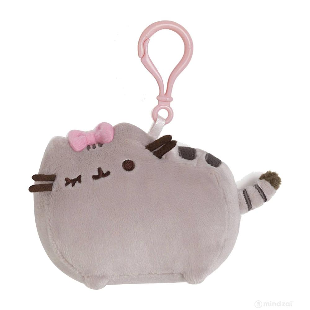 "Pusheen Bow 4.5"" Backpack Clip by GUND"