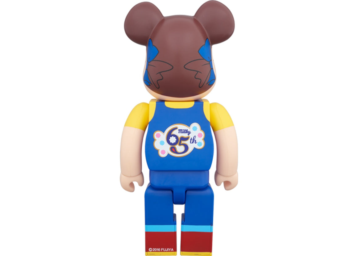 Bearbrick Peko-chan (Milky 65th Anniversary Design) 400% Blue