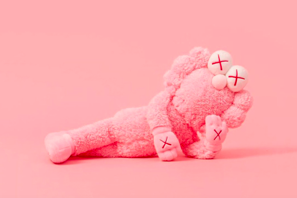 Kaws Pink BFF Limited Edition Plush by Kaws x AllRightsReserved 2113/3000