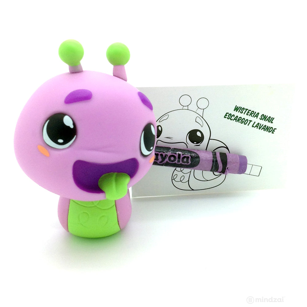 Crayola Critters Blind Box Mini Series by Kidrobot - Wisteria Snail Sharpener